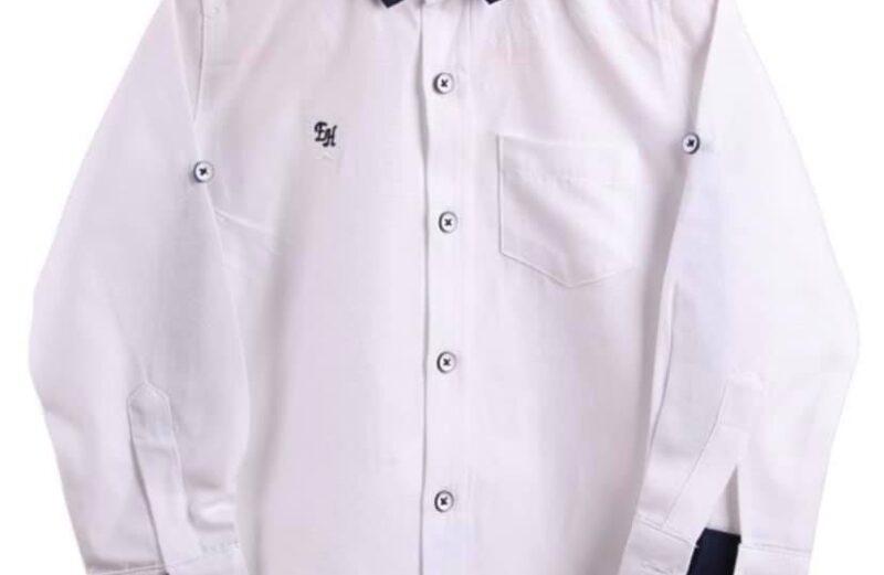 Fiú alkalmi fehér ing csokornyakkendővel