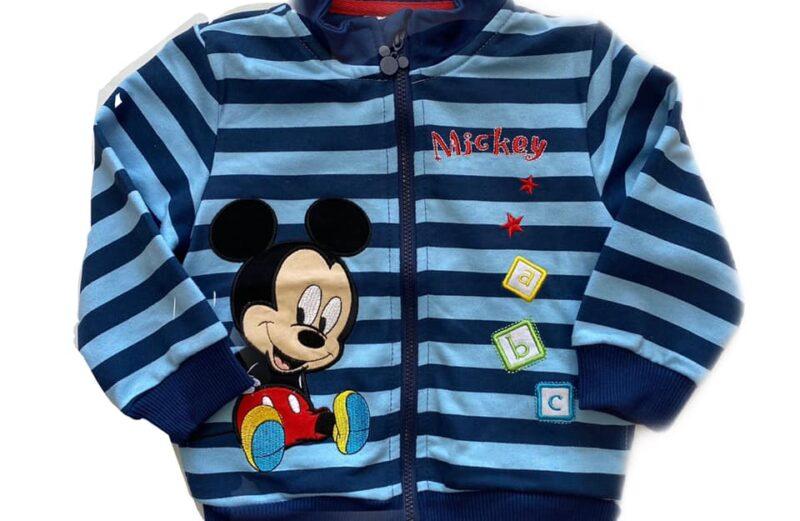 Mickey bébi cipzáras pamut pulóver